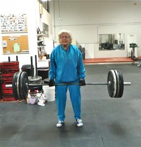 deadlifting grandma